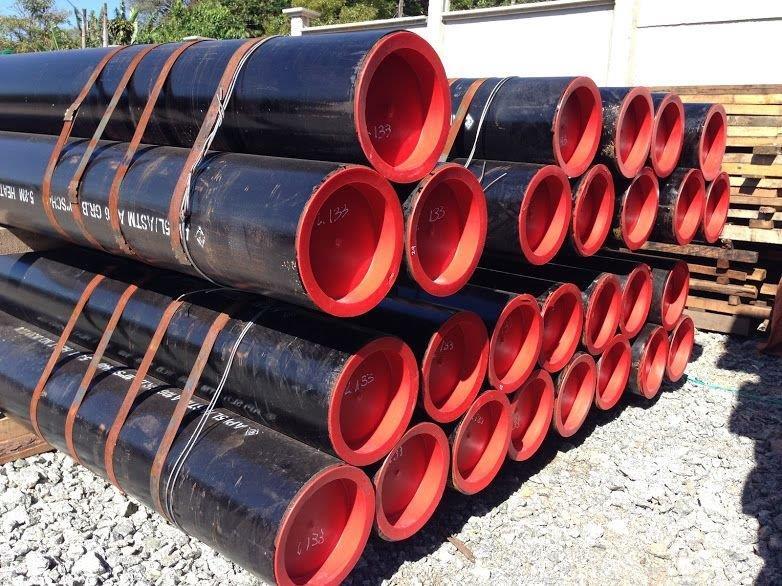 Tubo de aço carbono preto