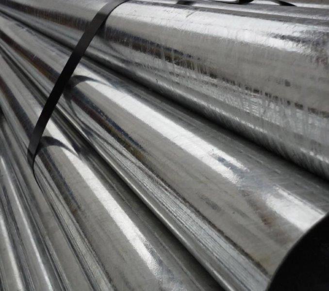 Tubo galvanizado com costura