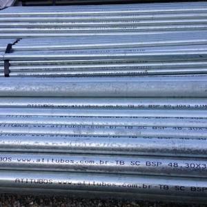 Tubo de aço galvanizado para gas